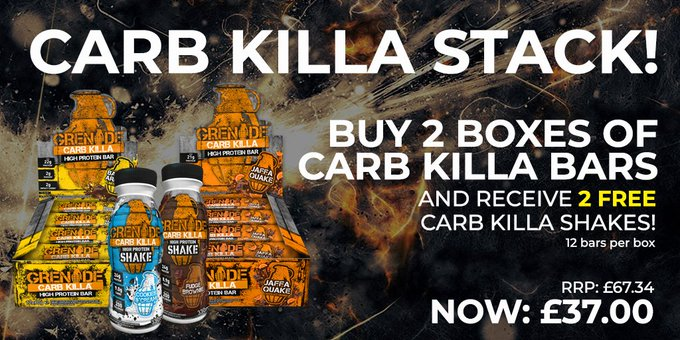 Click here for the BEST Deal and FREE UK Delivery on Grenade Carb Killa Bars! 💪 #SaturdayMorning Photo