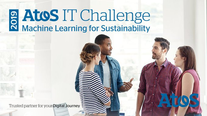 #MachineLearning for #Sustainability at the heart of the 2019 #AtosITChallenge! Join us...