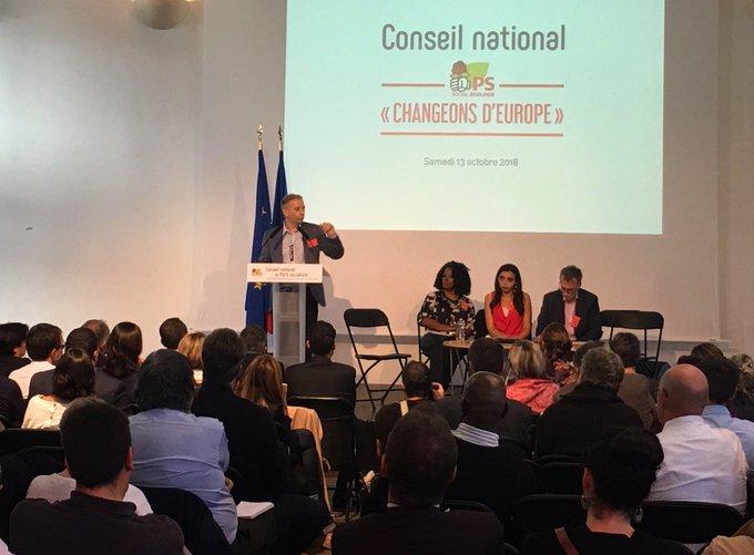.@laurentbaumel Beaucoup de camarades de la tendance «l'Union et l'espoir» restent au Parti socialiste. #CNPS Photo