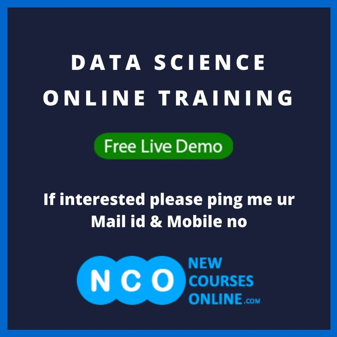 Get Quick Job by Learning Data Science Online Training |Get Expertise @NewCoursesOnline.#GovindaHitsBack #moreinone @odsc See more: Photo
