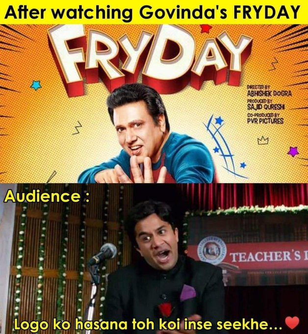 After getting good reviews from critics now fryday winning hearts of #GovindaHitsBack Photo