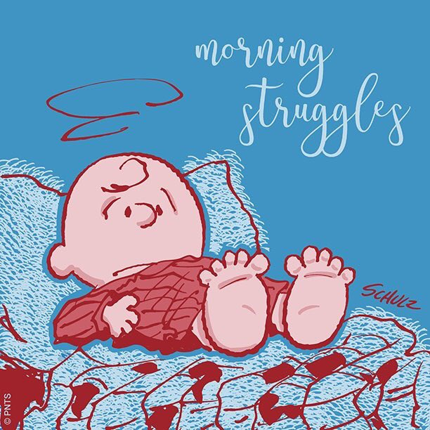 😂🤣 The struggle is real. @Snoopy #SaturdayMorning #LazyWeekend Photo