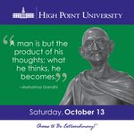 [CALENDAR] #DailyMotivation from Mahatma Gandhi. #HPU365