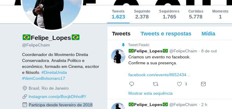 2955fbbf4 Entrou em fevereiro de 2018 e olha quantos tweets. Quase 203 tweets por  dia. Não trabalha