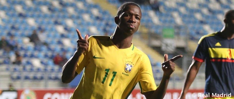 🇧🇷⚽📺 ¡No te pierdas el partido de la selección brasileña sub-20 de @vini11Oficial y Rodrygo esta noche! Se emitirá en Realmadrid TV a las 23:30 horas. #RMTV
