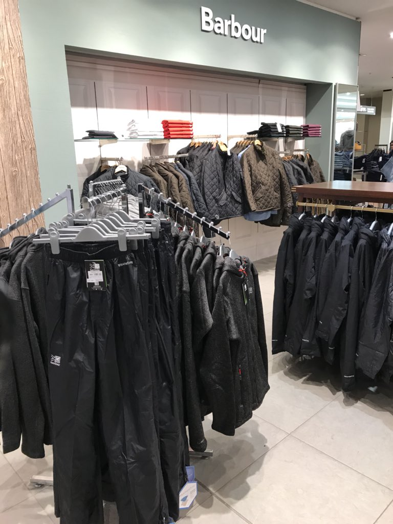 Between Barbour and Ralph Lauren concessions in house of Fraser... 1 random rack of karimor.. well played mike Ashley  <br>http://pic.twitter.com/X7KpoiBrgA