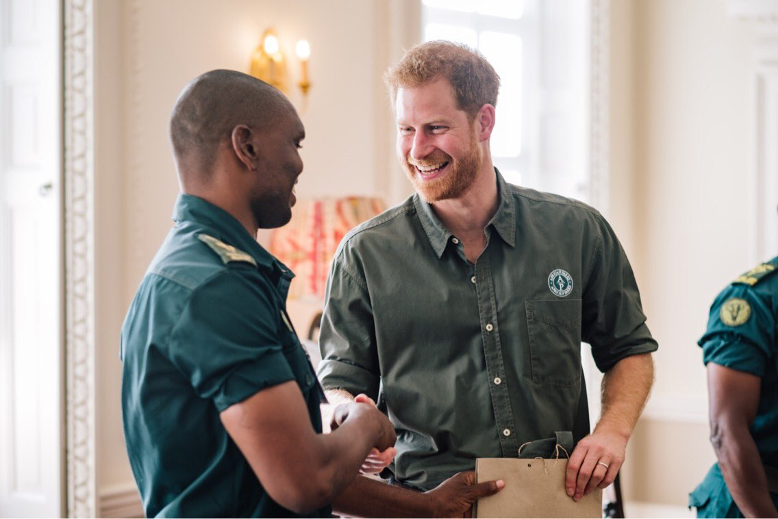 This week The Duke of Sussex, @AfricanParks President, received an update from their delegation attending the Illegal Wildlife Conference on several parks, and briefings on community engagement and law enforcement #EndWildlifeCrime <br>http://pic.twitter.com/hB2m8j7Gej