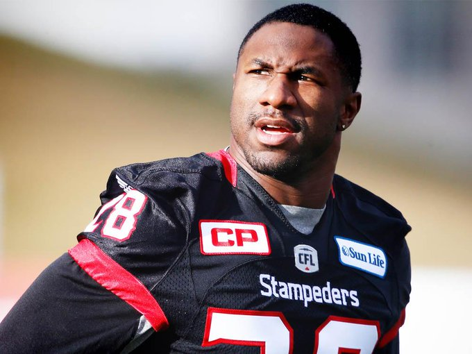 Veteran Brandon Smith out, rookie Amos in for #Stamps #CFL Photo