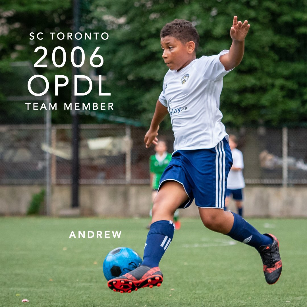 Congratulations Andrew for earning a spot on the 2006 SC Toronto OPDL Team #SupportLocalFootball #Toronto #2006Boys  #SCToronto #TorontoSoccer #SoccerInTheSix #OPDL #OntarioSoccer #PlayInspireUnite #Football #Soccer #Canada2026 #TheBeautifulGame  Tryouts ongoing. DM for details.
