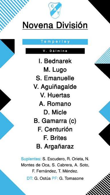 #InferioresCAT ⚽️👦🏽 Formaciones de Novena y Sexta División en el último partido de la jornada 👇🏼 Foto