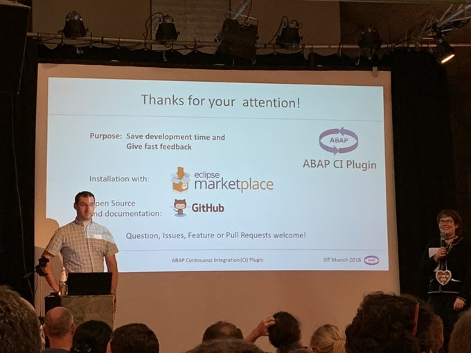 ABAP CI Plug-in for #Eclipse great talk and Innovation driven by the community #sitMUC Foto
