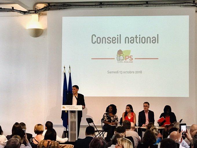 Très bon discours mobilisateur de @faureolivier en Conseil national du Parti socialiste : «Si nous en avons la volonté, il y aura un chemin !» #CNPS Photo