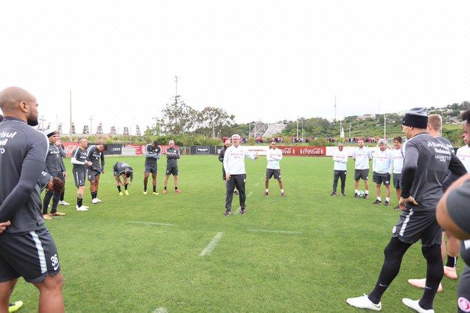 Bom dia, torcida colorada! Começa no CT do Parque Gigante o último treinamento do Inter antes de enfrentar o São Paulo. #VamoInter 🇦🇹 Foto