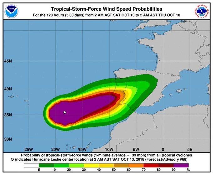 #ProtecciónCivil y Emergencias alerta por lluvias intensas y fuertes vientos tras la entrada de los restos del ciclón #Leslie y la presencia de otros frentes activos. Ten precaución especialmente si conduces 🚗 👉 Más info en y Photo