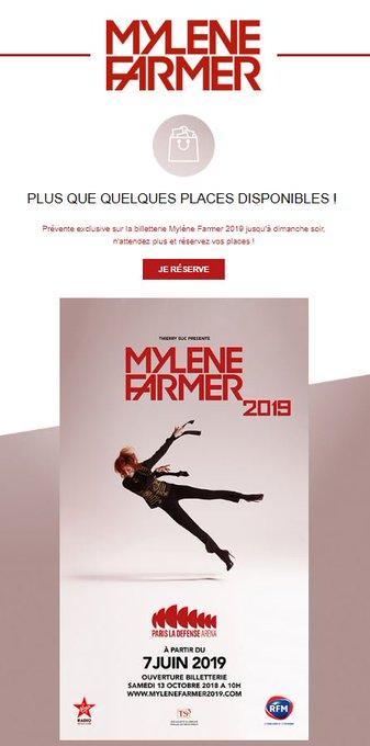#MyleneFarmer2019 Plus que quelques places disponibles ! Photo