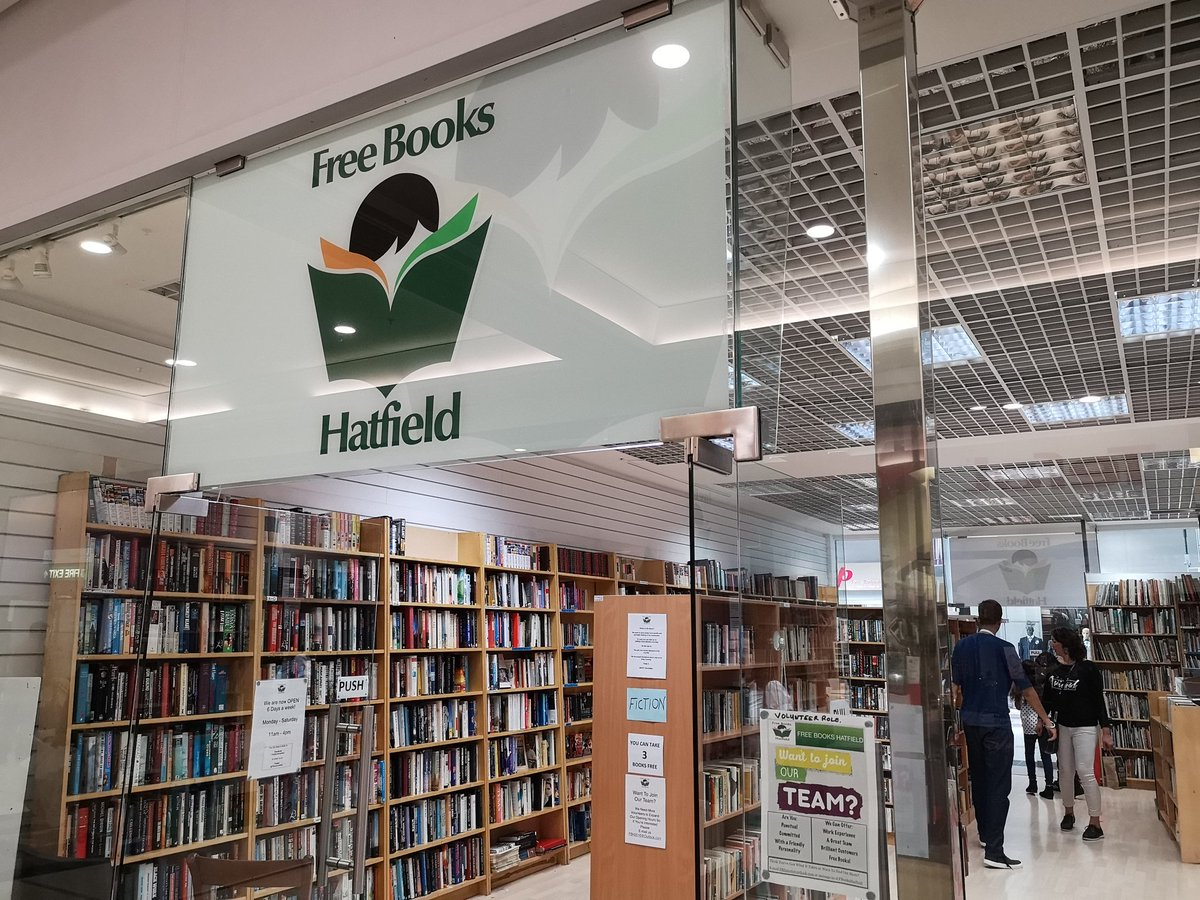 Visited @FBooksHatfield today, what a find!  Free books to save them from landfill.  We got some great books & will be back to donate our old books in return  #highlyrecommended #saveourbooks <br>http://pic.twitter.com/IwbmnZXuUm