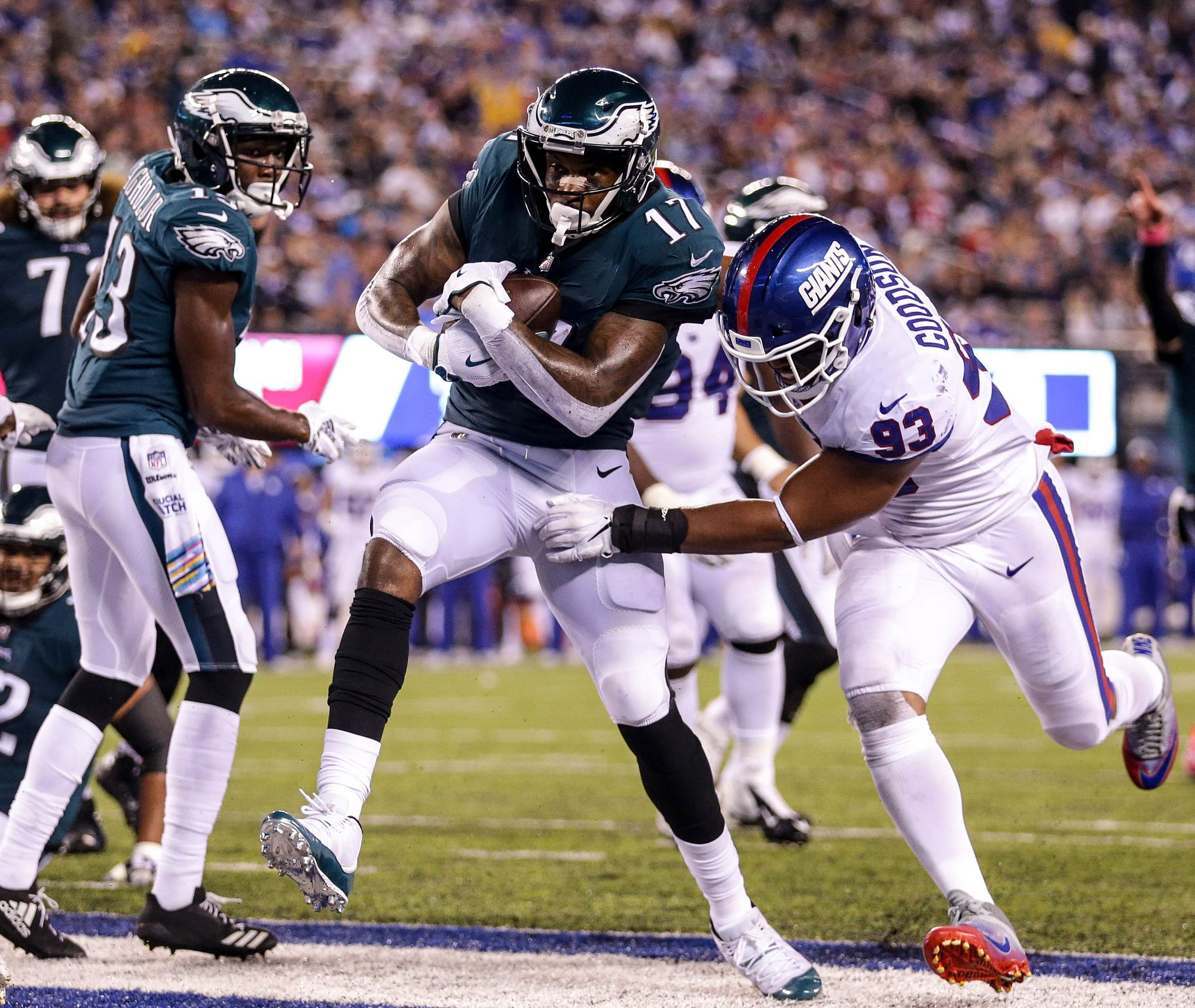 .@TheWorldof_AJ came up big again for the #Eagles in Thursday night's win.  ��: https://t.co/kVxUtj0kiL #FlyEaglesFly https://t.co/ZmE1YoePXG