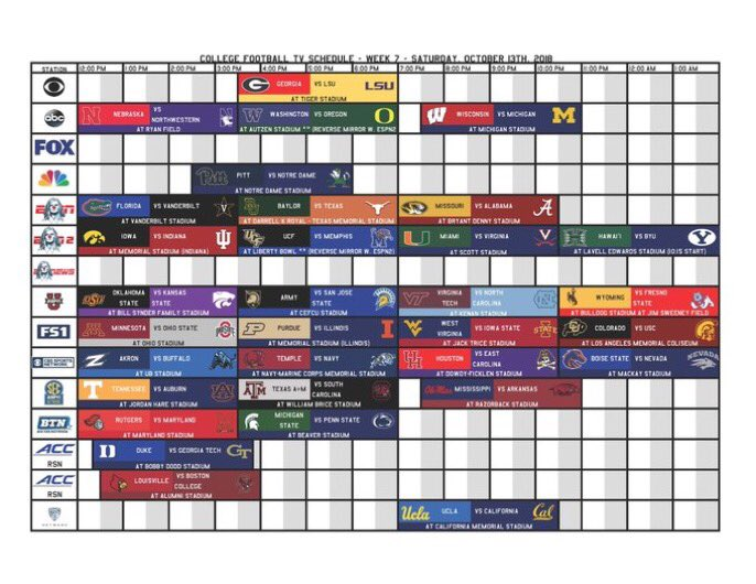Barstool Sports On Twitter Your Ultimate Week 7 College