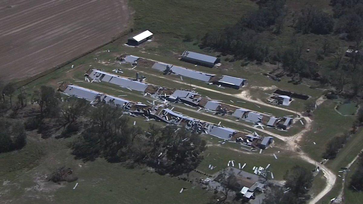NewsChopper 2 takes aerial tour of #HurricaneMichael damage in south Georgia: 2wsb.tv/2OX8Q39