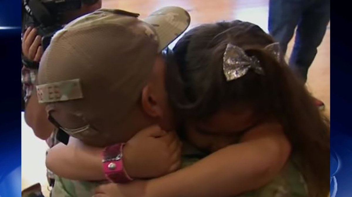 First-grader has tearful reunion with military dad 2wsb.tv/2OSCQgF