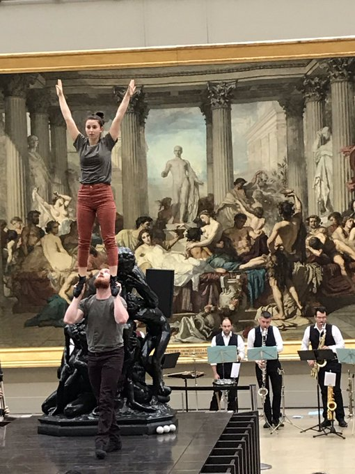 This weekend #Free circus workshops for under 26 #PicassoCircus by @theatrechatelet & @MuseeOrsay Photo