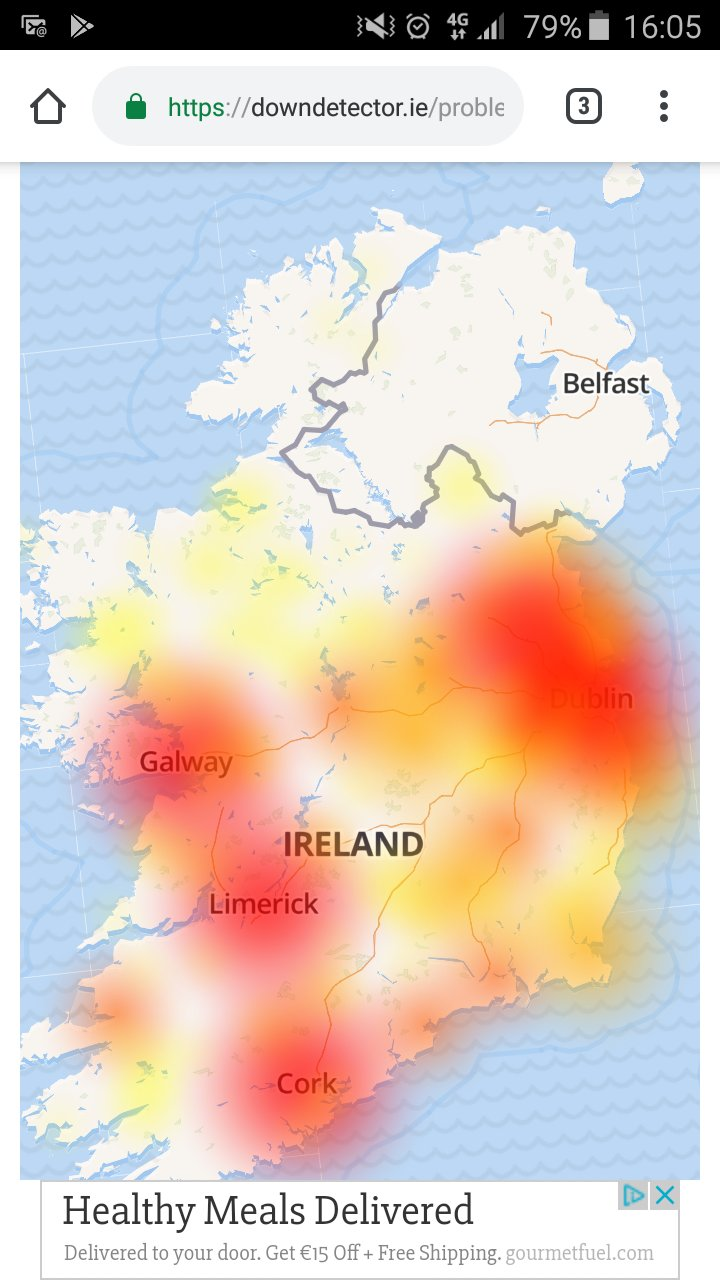 Map Of Quinn Ireland.Niall Quinn On Twitter This Is A Heat Map Of How Banjacksed Eir