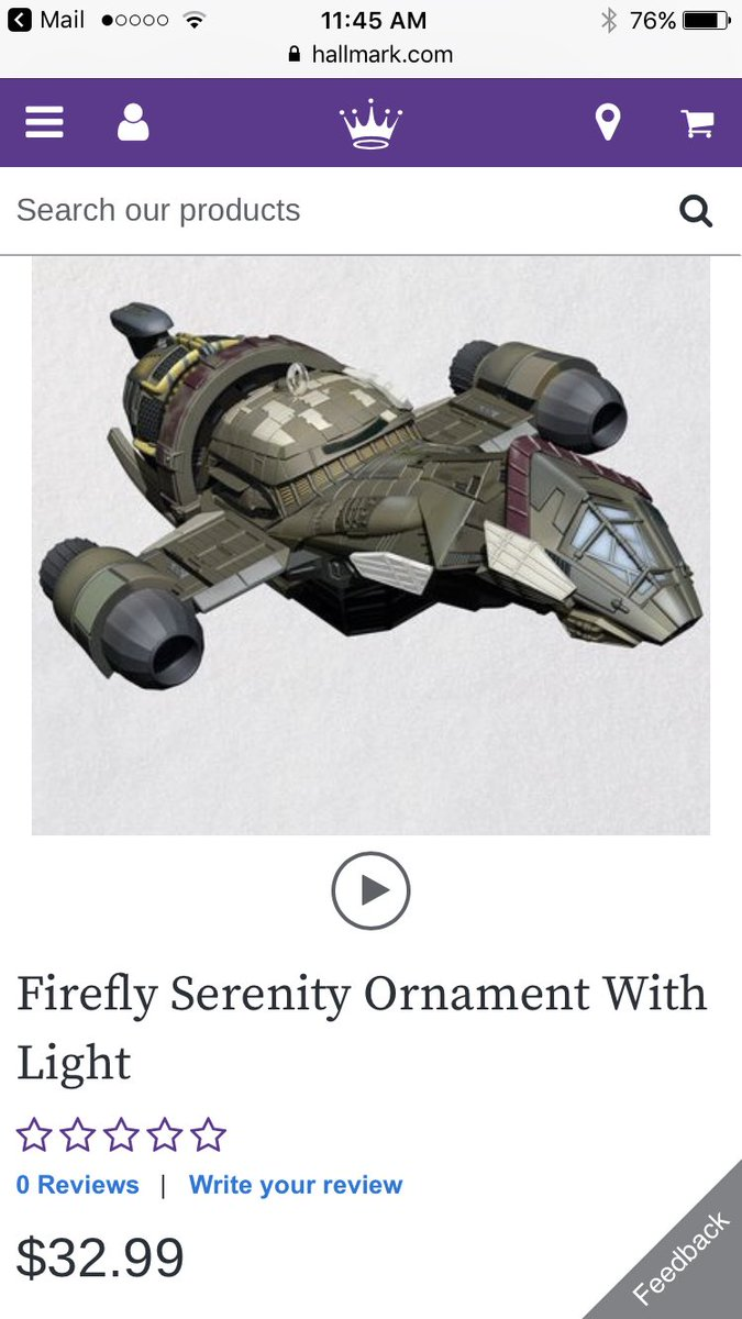 Hallmark made a Serenity ornament! I need it! But why is it so much money?! 😩😩
