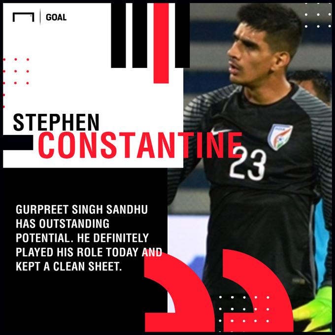 Stephen Constantine is all praises for Gurpreet Singh Sandhu #CHNvIND #IndianFootball Photo