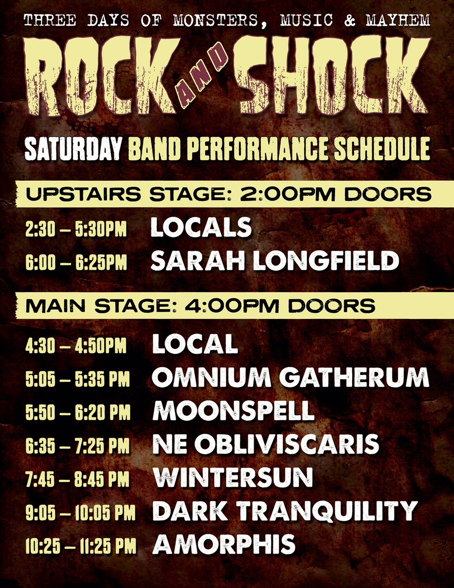 🇺🇸 Today's schedule in Worcester, hope you'll stay up! #amorphis #queenoftimetour #darktranquillity #moonspell #omniumgatherum #rockandshock @palladiumshows https://t.co/bLohwfb4Rw