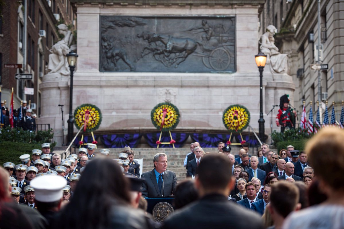 @NYCMayor delivered remarks at the 111th annual @FDNY Memorial Day ceremony in Manhattan on Wednesday.