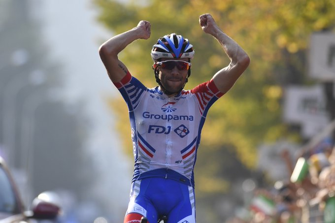 🎙️ @ThibautPinot :If I had to choose a single race to win in my career I would have chosen #ILombardia Photo