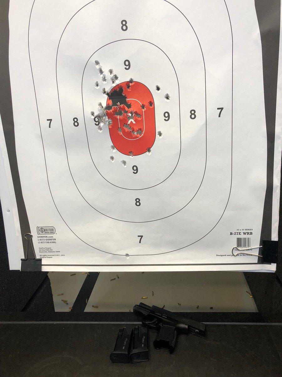 Good Saturday morning y'all.   Since our motorcycle ride was canceled due 2 thunderstorms I went shooting. Needed to reduce my stress level b4 TN plays Auburn.   5-7 yards w/my Sig Sauer p365 &amp; 80 rounds. Sneezed on that low center round.   Hey, #EricHolder, don't try kicking me! <br>http://pic.twitter.com/8jZ1khrfsh