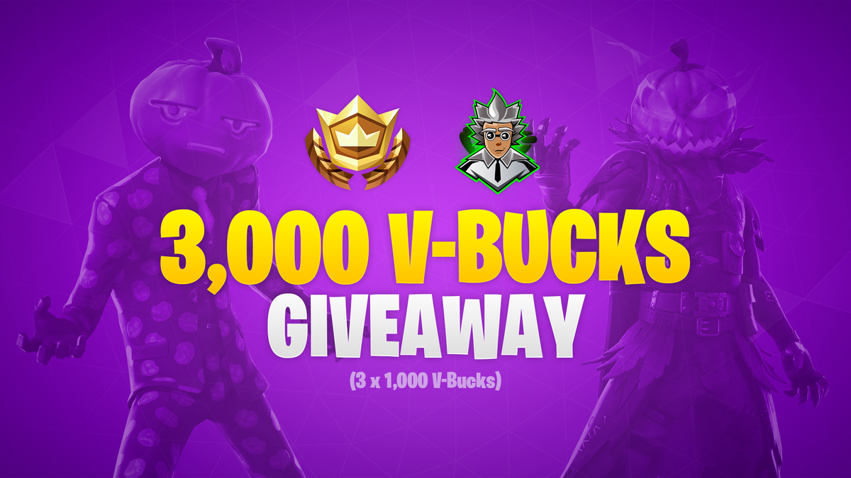 We're teaming up with @FortScientist to bring you a quick 3,000 V-Bucks giveaway (3 winners of 1,000 V-Bucks each). To enter:  - Follow @FortScientist  - Retweet  Winners will be picked and announced approximately 24 hours from this tweet going live, good luck! #Fortnite