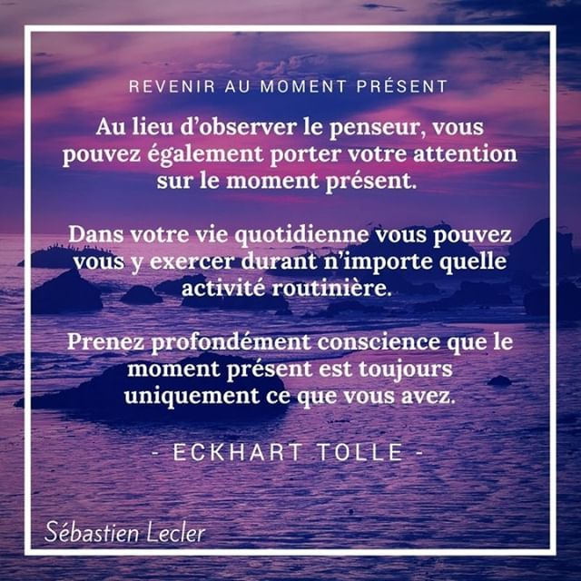 Sebastien Lecler Twitter ನಲ ಲ Citation Eckharttolle