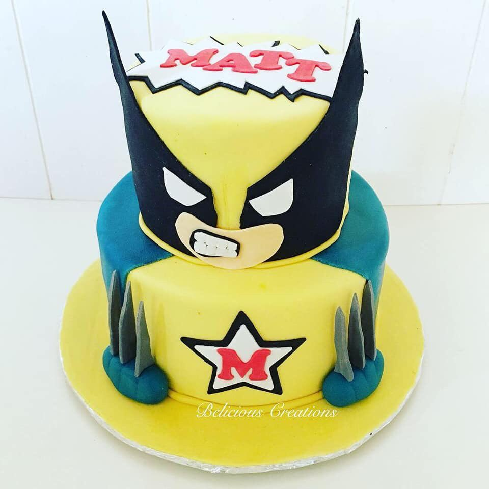 Enjoyable Belicious Creations On Twitter A Surprise Wolverine Cake For A Personalised Birthday Cards Veneteletsinfo