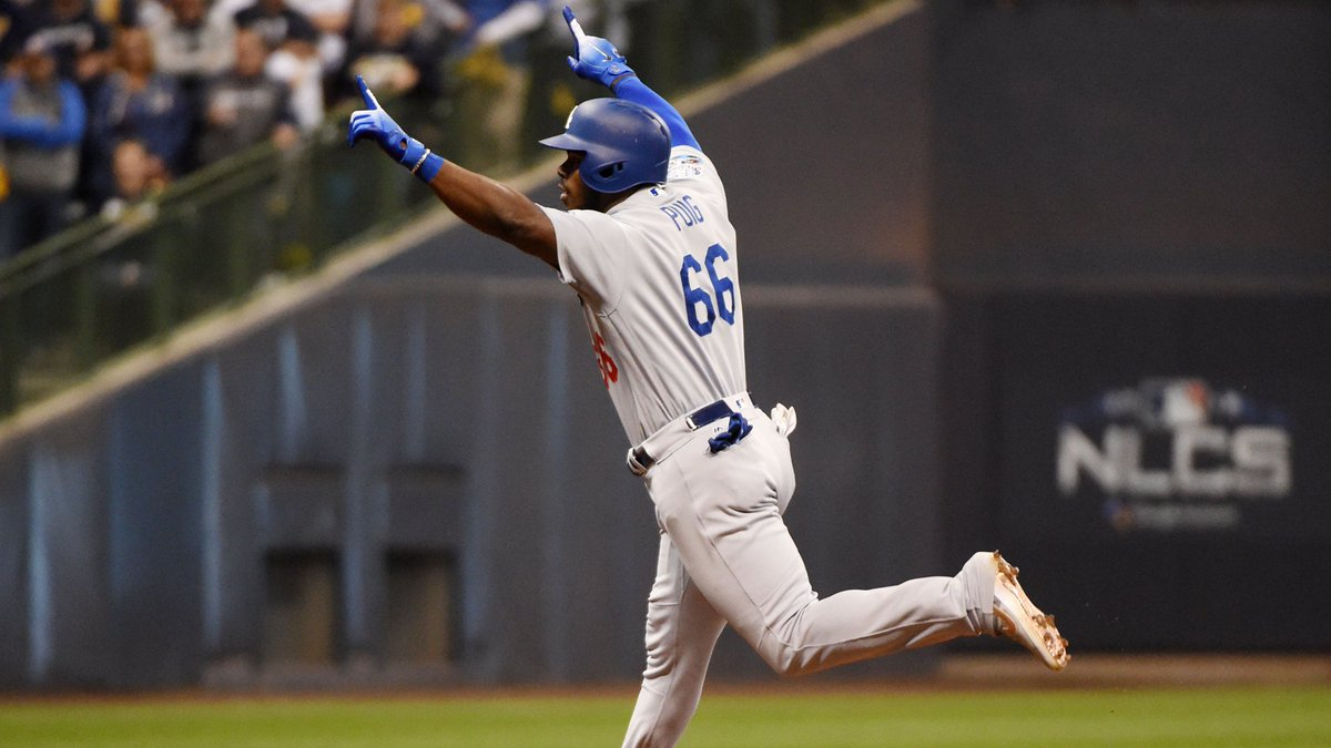 The Dodgers are four wins away ... from still having fewer titles than the Giants this decade. bit.ly/2ODi70Q