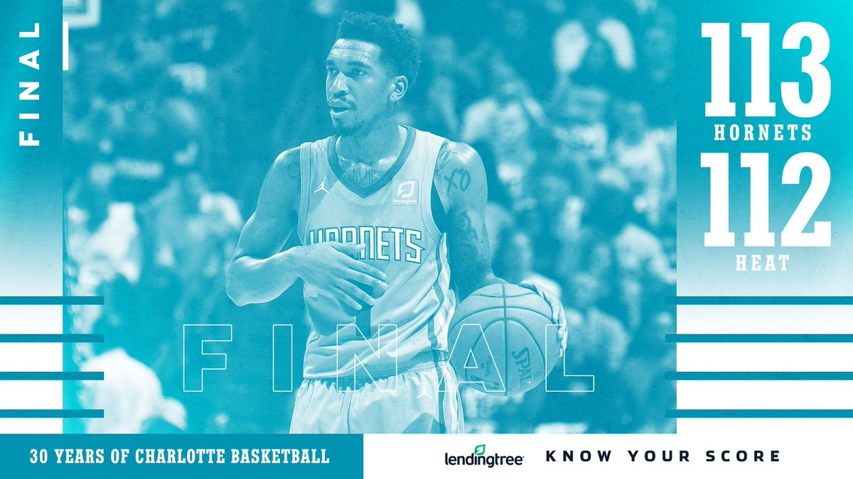 🎉 HORNETS WIN! 🎉  Know Your Score with the @LendingTree App 👉🏼 https://t.co/5eHhzeD44Y