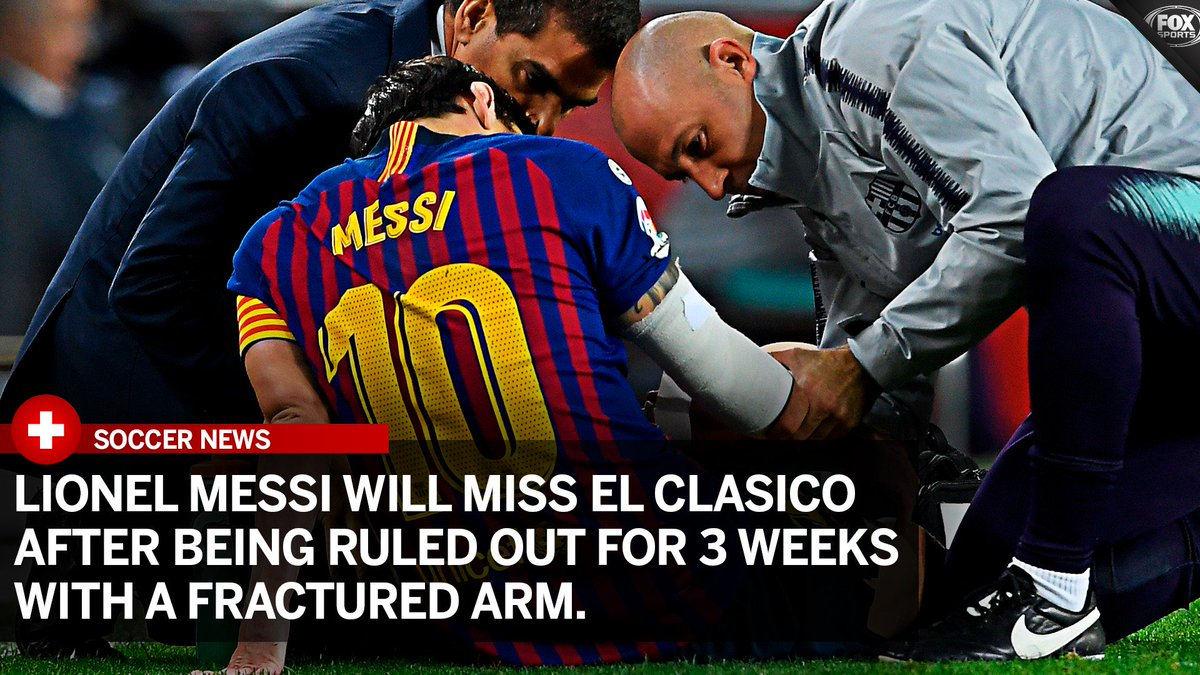 There will be no Messi in next weekend's El Clásico 💔