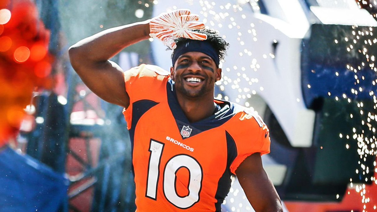 'I like to have the ball in my hands. I like to make plays. I take pride in being a playmaker.'  How @ESanders_10 is off to his best seven-game start since his first year as a Bronco » https://t.co/bqXnBruHG5