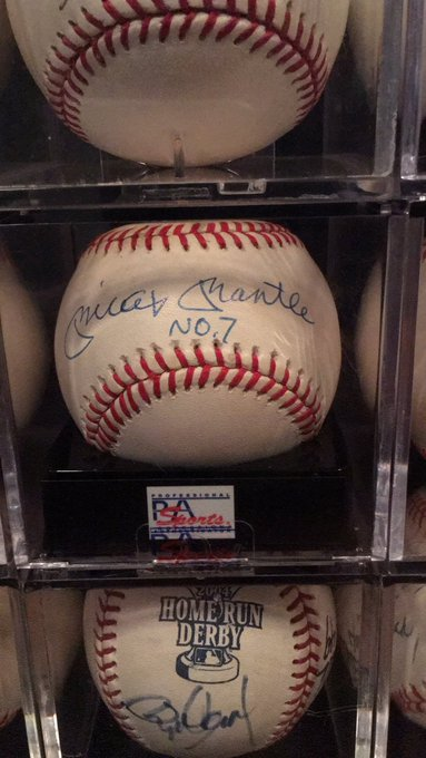 Happy Birthday, Mickey Mantle. Out of all my autographs, this has always been my favorite.