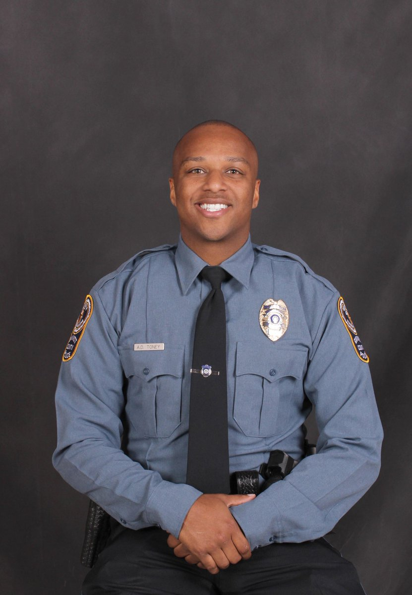 Ofc. Antwan Toney was killed in the line of duty while investigating a suspicious vehicle. His 3 year anniversary with the department would have been in 6 days.