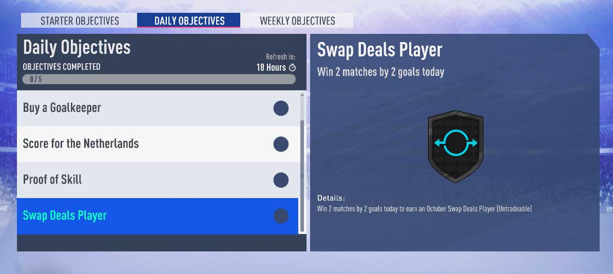 Fifauteam On Twitter You Can Win A New Swap Deal Player Via Daily Objectives All You Have To Do Is Win 2 Matches By 2 Goals 72 Cm Jose Mauri Ac