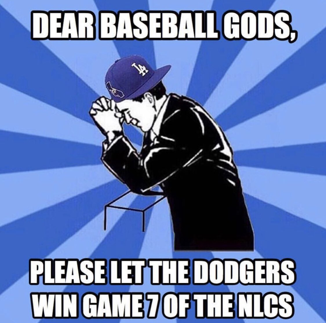 Let's go @Dodgers!!!  #PrayersUp