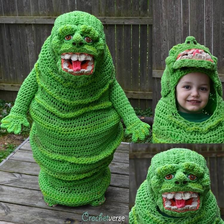 Talented Mother Crochets a Freehand Bright Green Ghostbusters Slimer Costume for Her Youngest Son https://t.co/UcPo0RJnkH