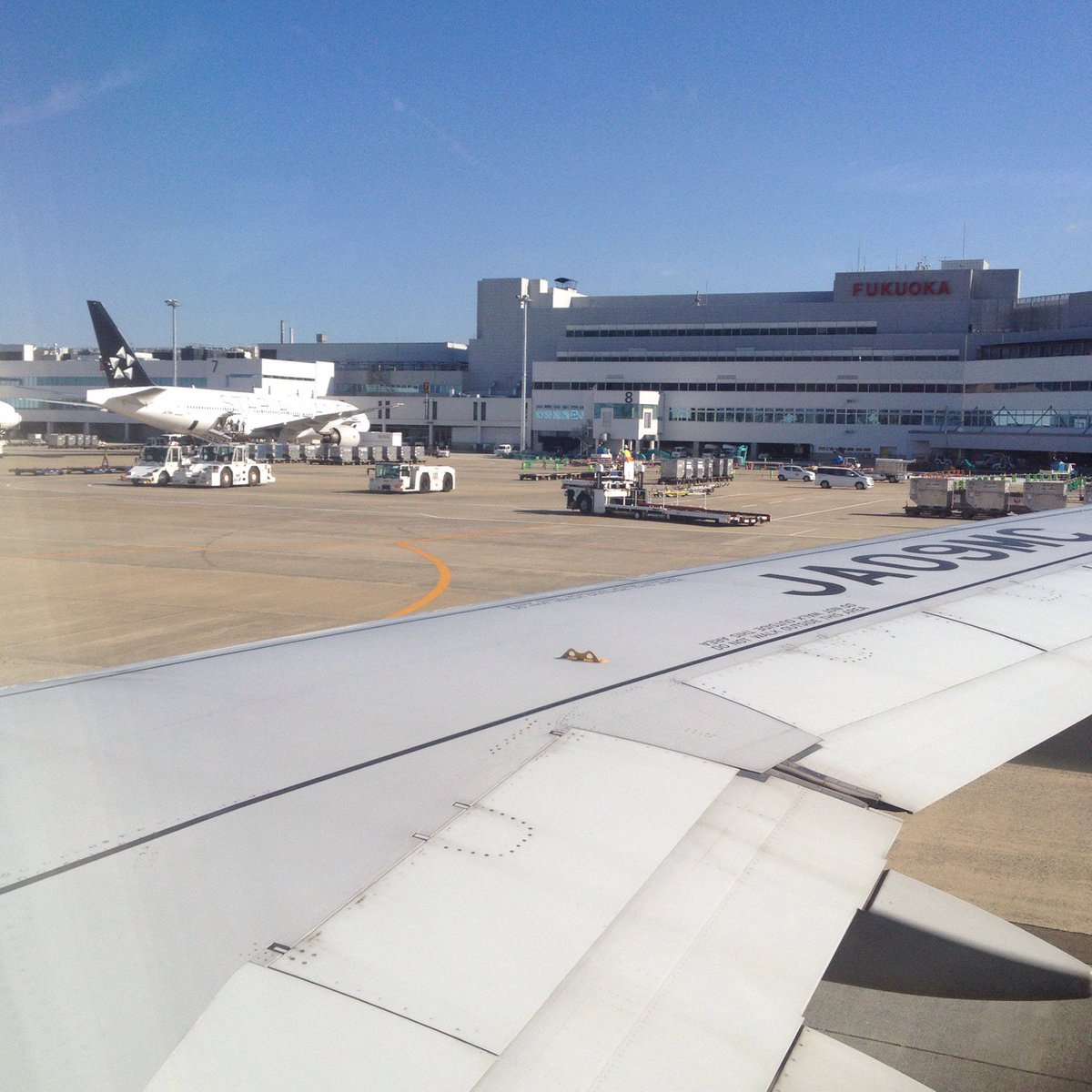 ANA3831 福岡空港 滑走路