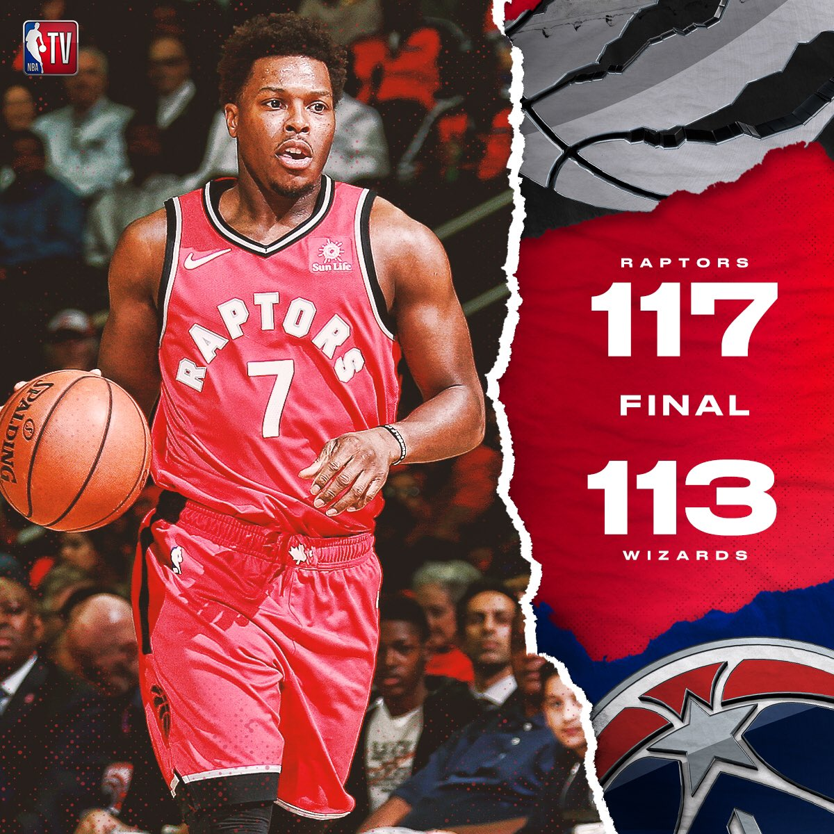 The @Raptors remain undefeated as they survive in DC!  #WeTheNorth