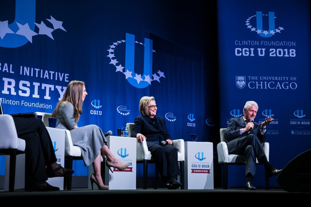 Had such a great time closing out #CGIU2018 with my parents tonight. Watch our conversation and stay tuned for more from our Day of Action tomorrow:  https://t.co/zMELV3DM3P