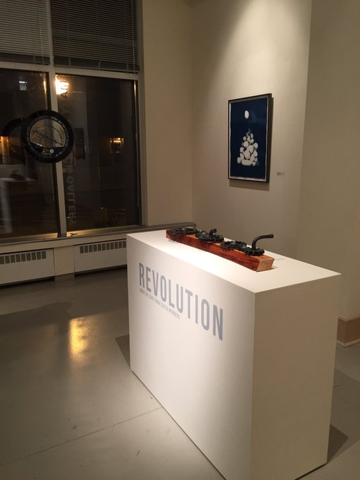 .@craftnovascotia challenged its members to create work exploring revolution, check them out in Zone 3 #nochfx18 Photo