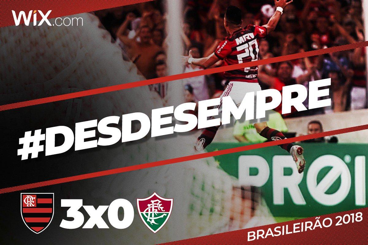 Fim de jogo! No feriadão das Crianças, Mengão goleia o Fluminense no Maracanã por 3 a 0 com dois gols de Uribe e um de Léo Duarte e segue subindo no Brasileirão #DesdeSempre  Vem pro :  https://t.co/FnBbDiNxUt