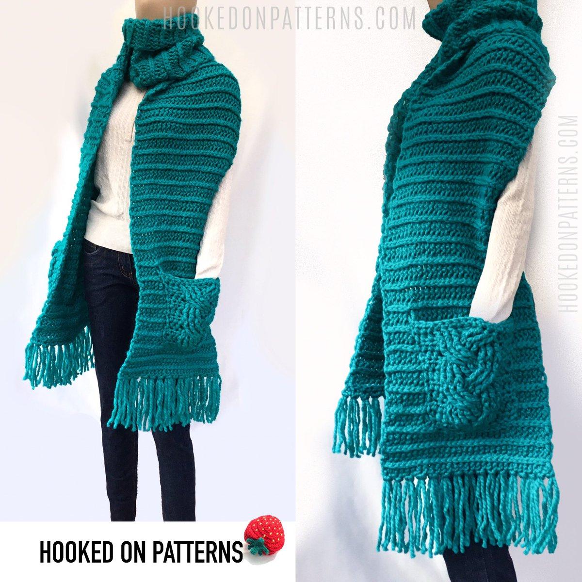 9a08b28ed8b ... on my blog  https   hookedonpatterns.com crochet-blog free-crochet -scarf-pattern-super-chunky …  crochet  lovecrochet  freepattern  scarf   yarn  winter ...